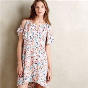Anthropologie Maeve Watercolor Polka Dot Dress